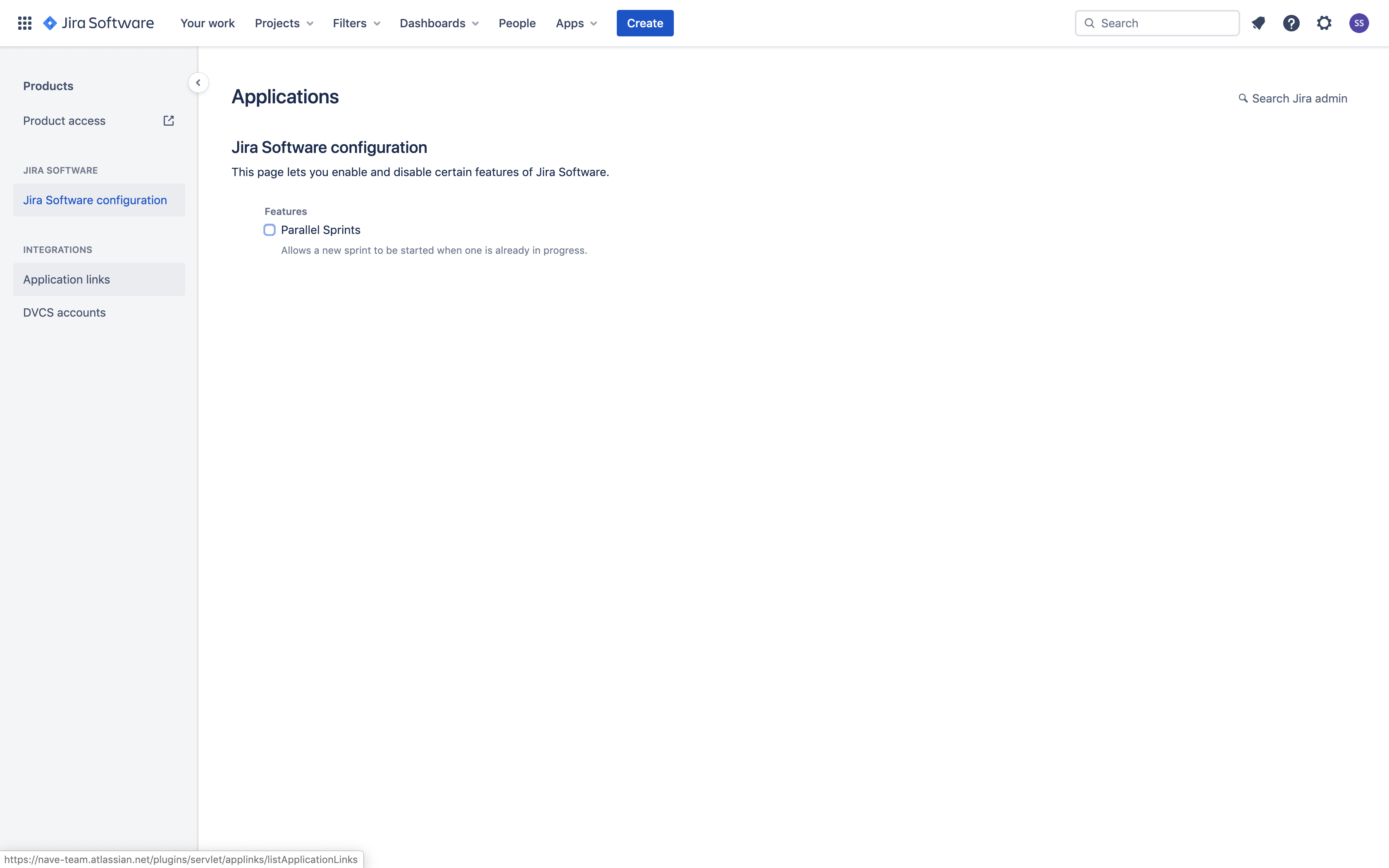 Linking Nave with Jira - Application Links